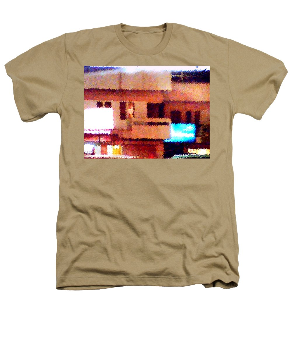 Digital Art Heathers T-Shirt featuring the painting Windows by Anil Nene