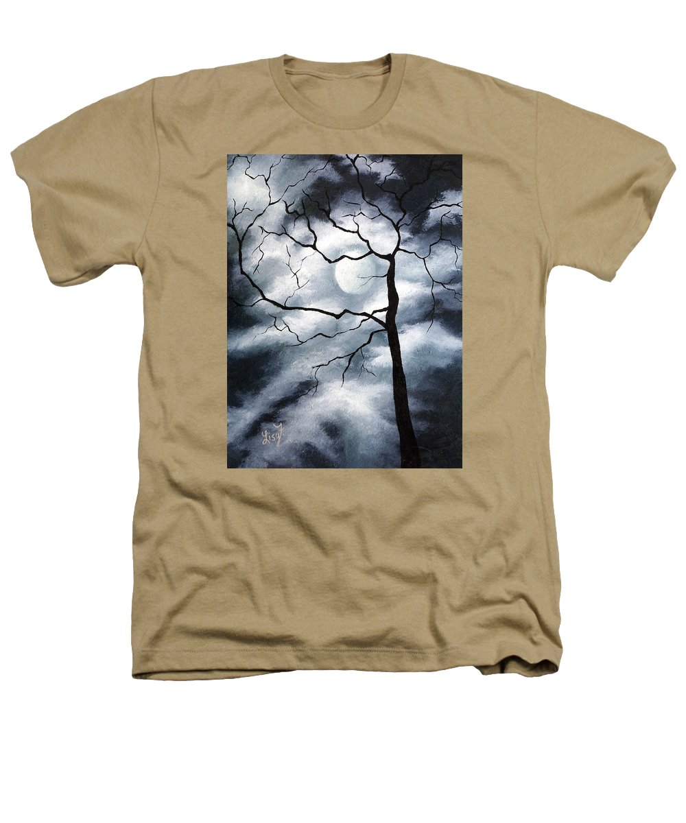 Winter Heathers T-Shirt featuring the painting Winter Evening by Elizabeth Lisy Figueroa