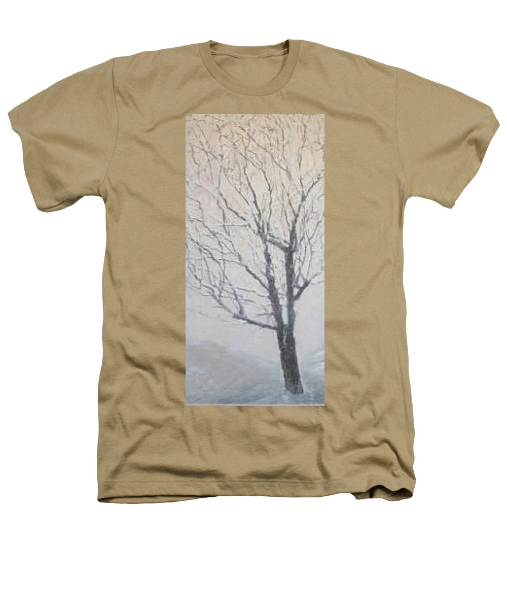 Tree Heathers T-Shirt featuring the painting Winter by Leah Tomaino