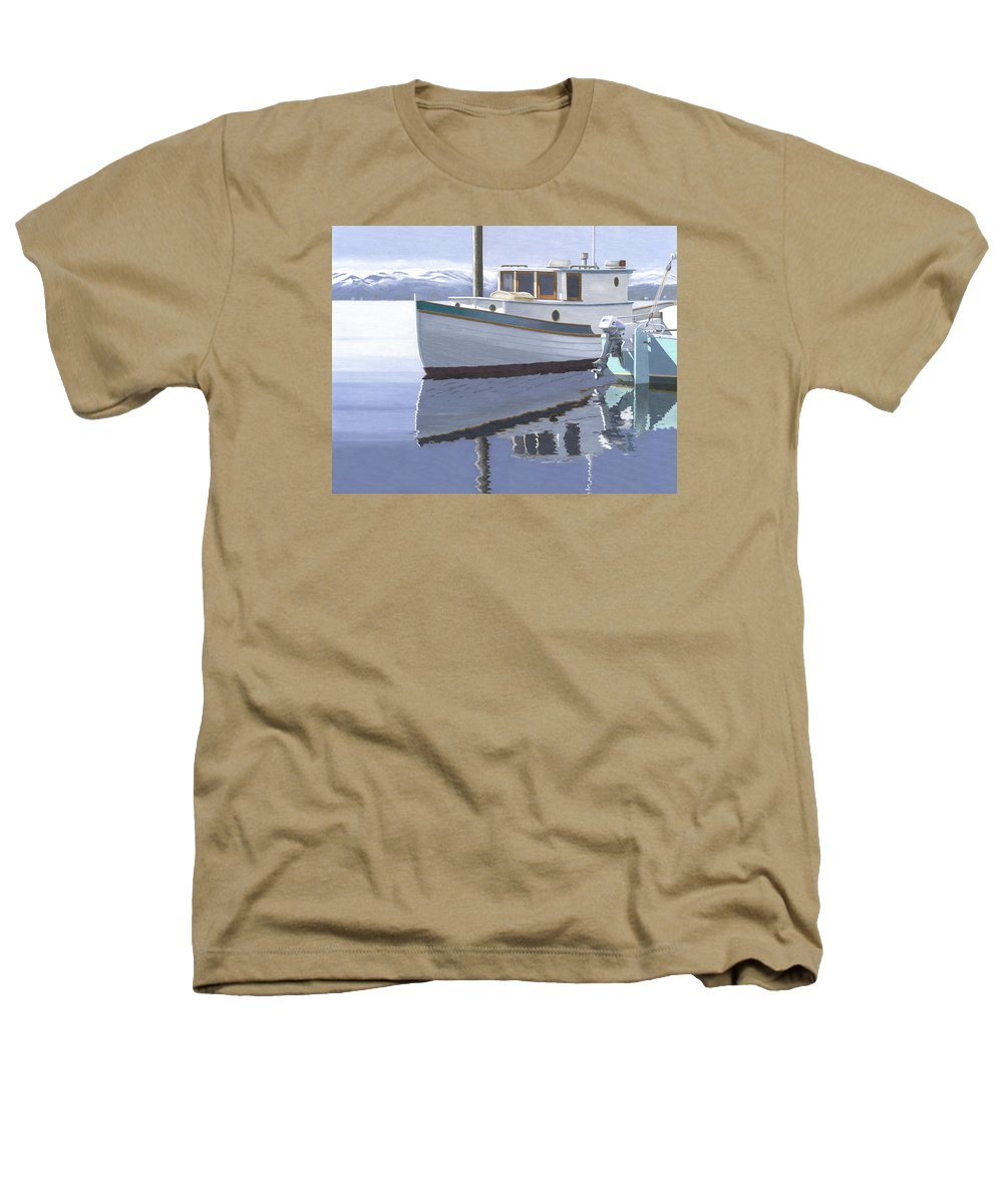 Marine Heathers T-Shirt featuring the painting Winter Moorage by Gary Giacomelli