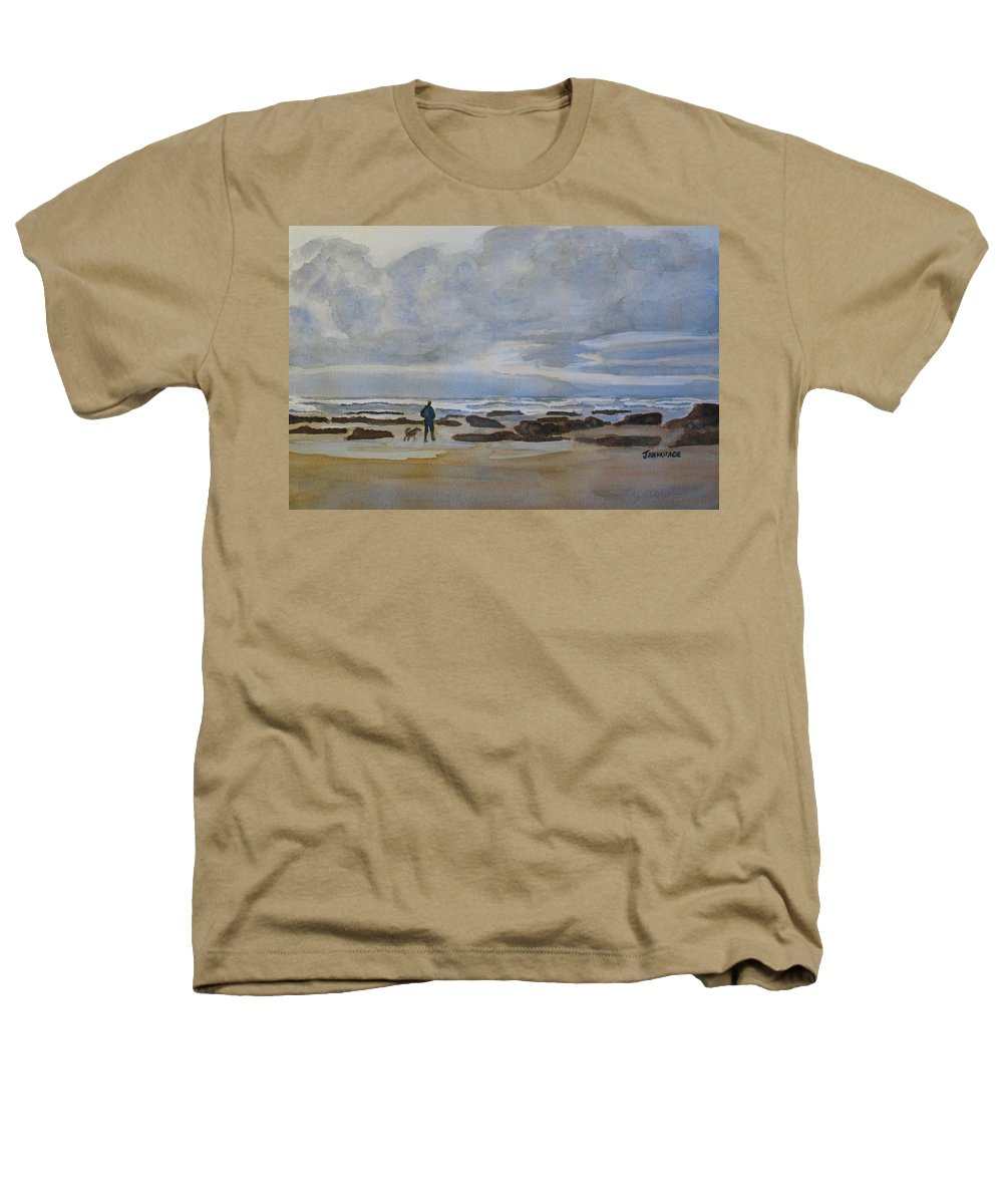 Beach Heathers T-Shirt featuring the painting Winter Morning Solitude II by Jenny Armitage