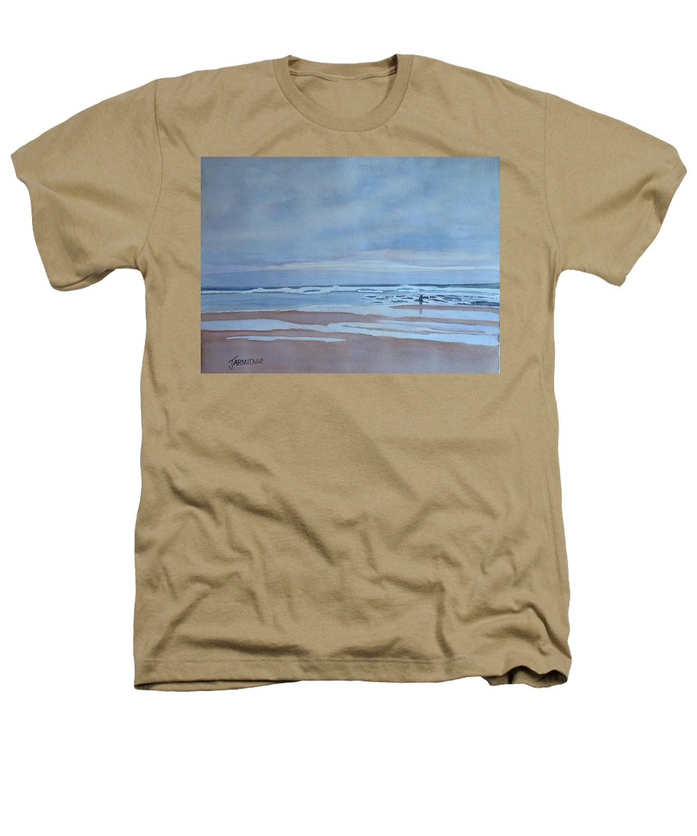 Ocean Heathers T-Shirt featuring the painting Winter Morning Solitude by Jenny Armitage