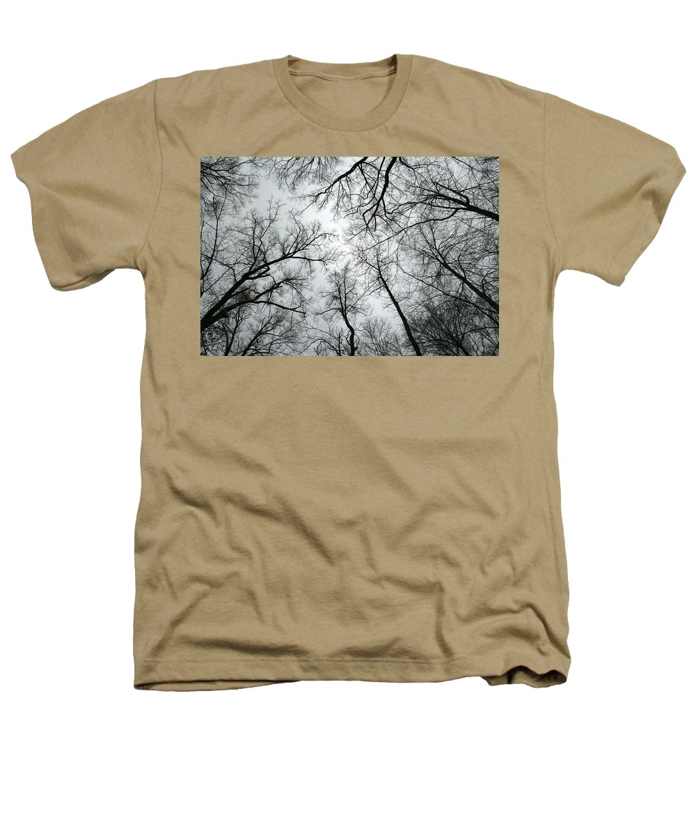 Winter Sky Tree Trees Grey Gloomy Peaceful Quite Calm Peace Cloudy Overcast Dark Heathers T-Shirt featuring the photograph Winter Sky by Andrei Shliakhau