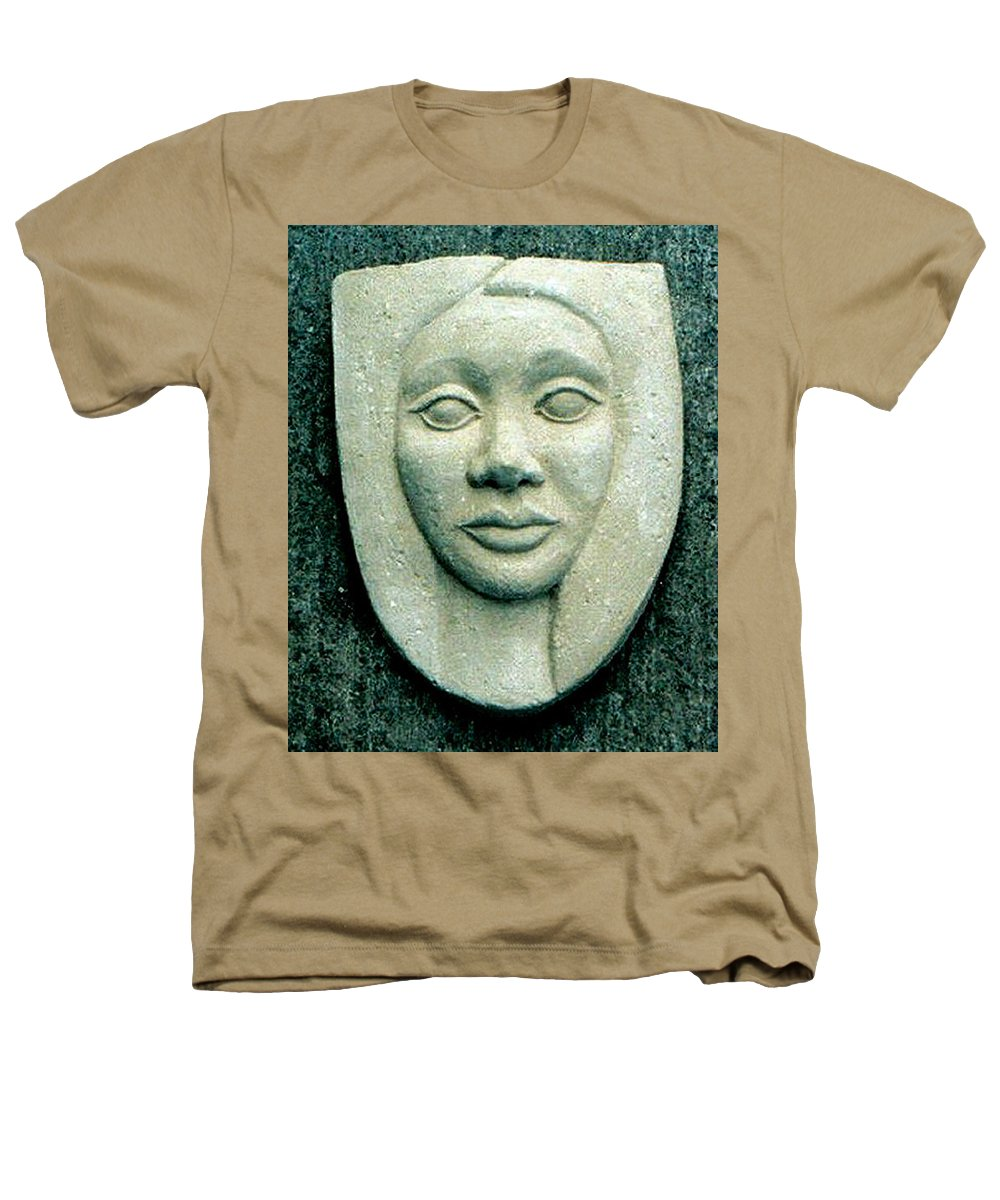 Relief Heathers T-Shirt featuring the relief Without Veils by Madalena Lobao-Tello