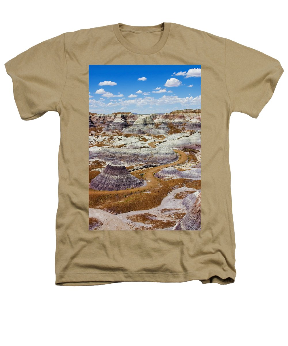 Painted Desert Heathers T-Shirt featuring the photograph Yea Though I Walk by Skip Hunt