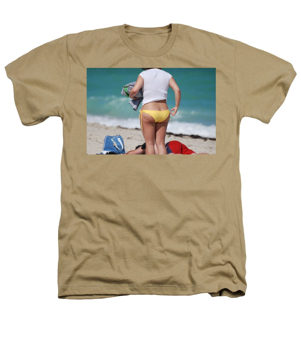 Sea Scape Heathers T-Shirt featuring the photograph Yellow Bikini Bottom by Rob Hans