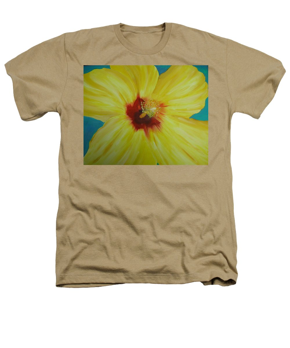 Flower Heathers T-Shirt featuring the print Yellow Hibiscus by Melinda Etzold