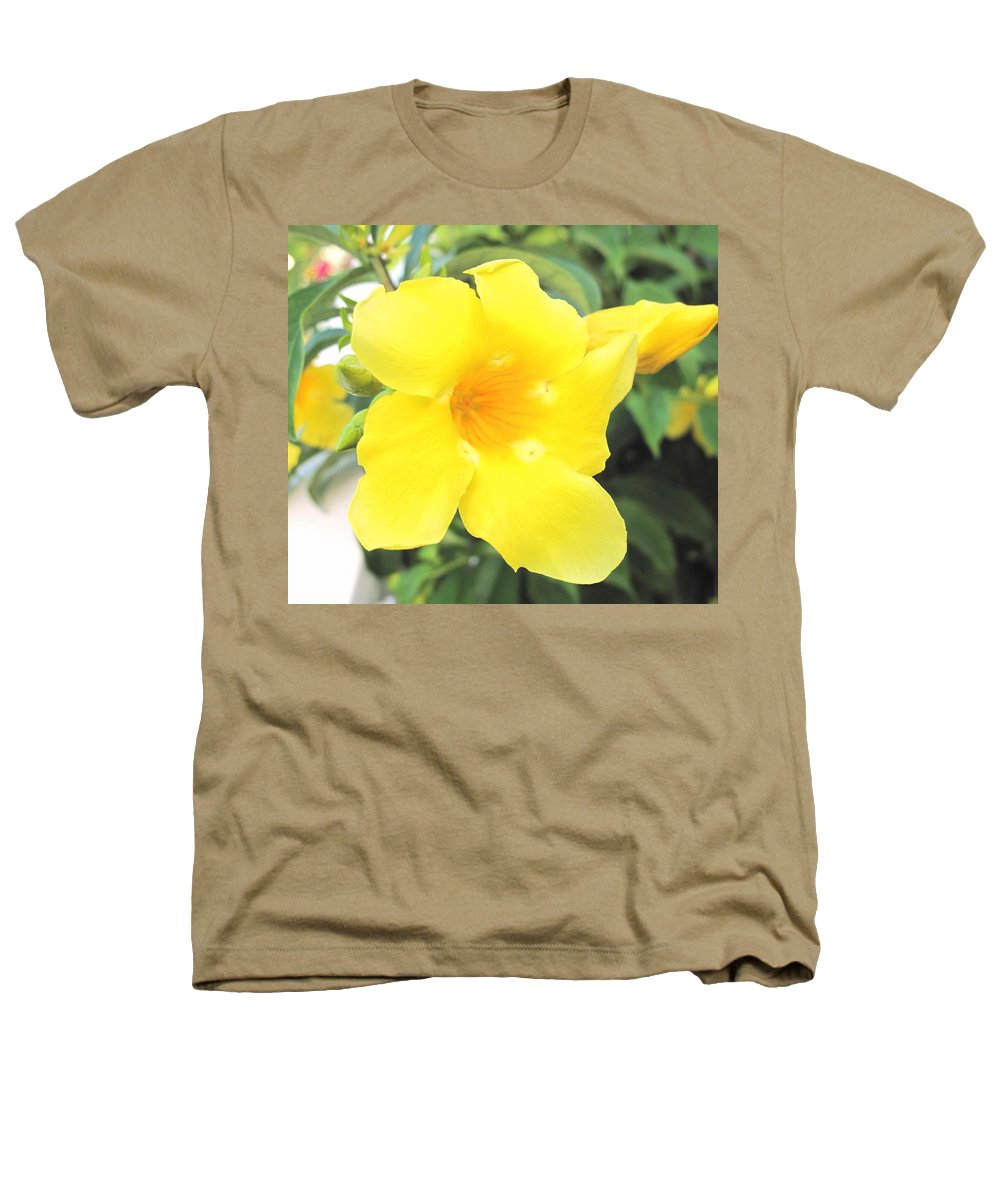 Yellow Heathers T-Shirt featuring the photograph Yellow Hibiscus St Kitts by Ian MacDonald