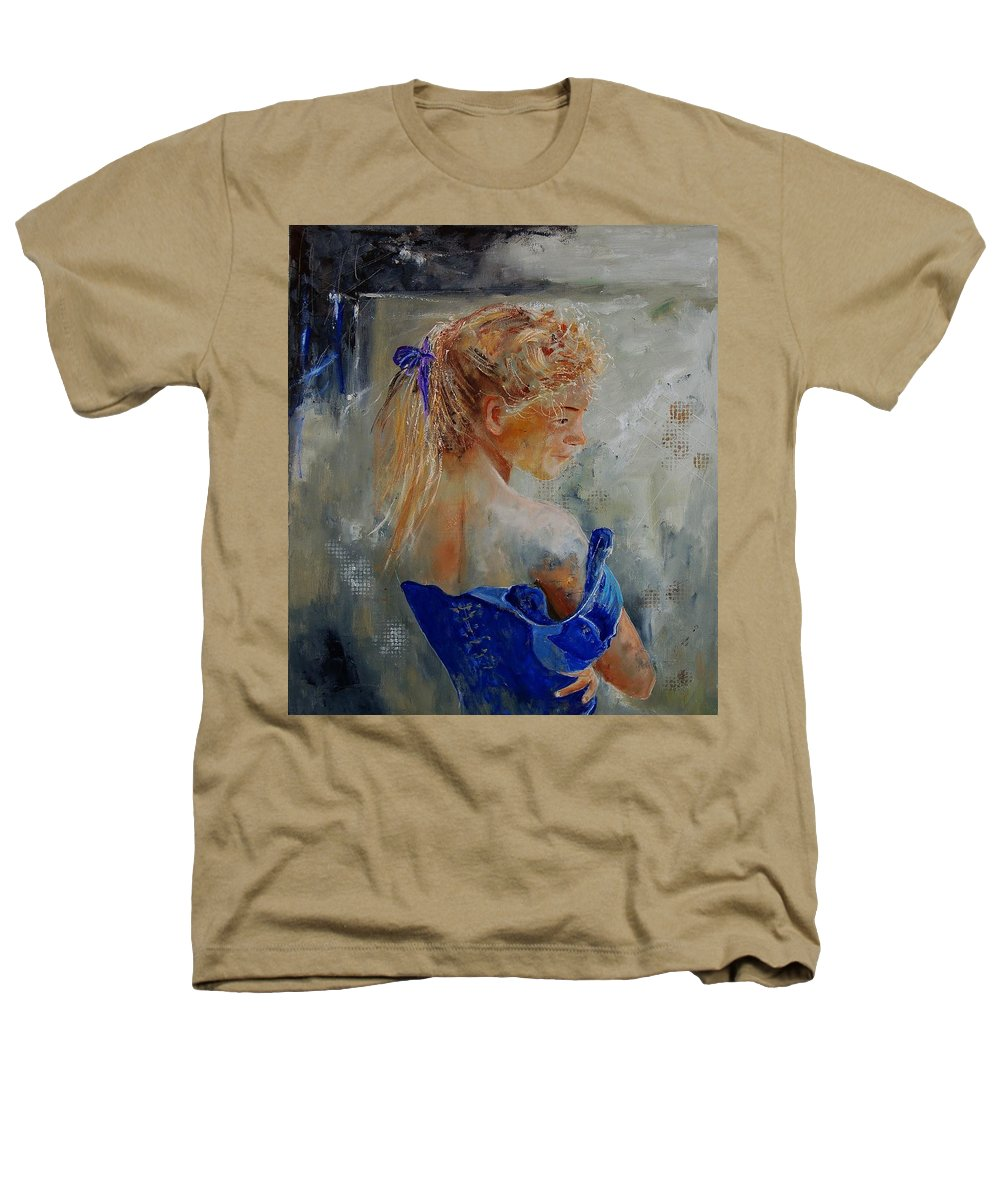 Gir Heathers T-Shirt featuring the painting Young Girl 78 by Pol Ledent