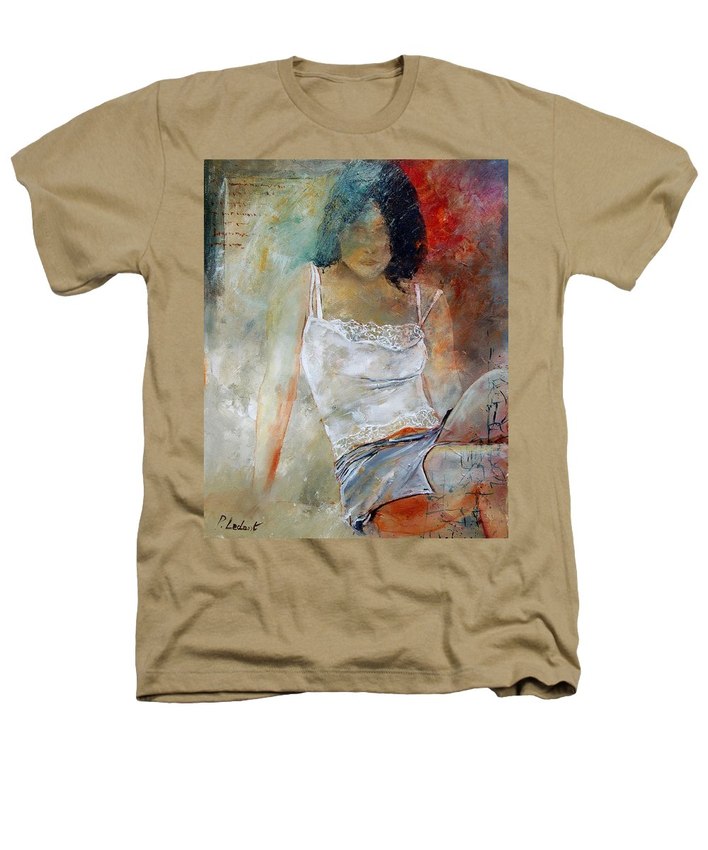 Nude Heathers T-Shirt featuring the painting Young Girl Sitting by Pol Ledent