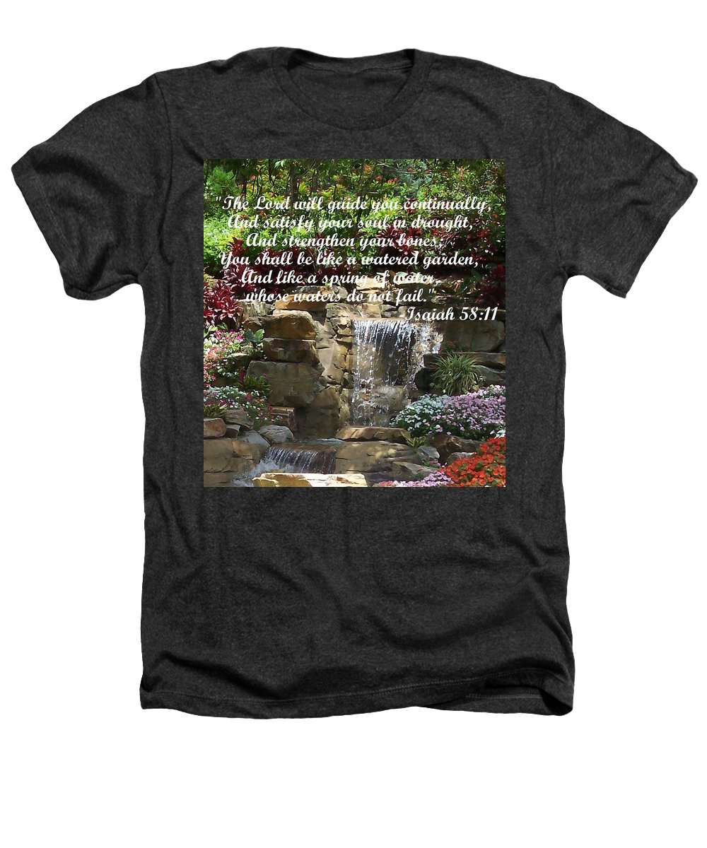 Inspirational Heathers T-Shirt featuring the photograph Watered Garden by Pharris Art