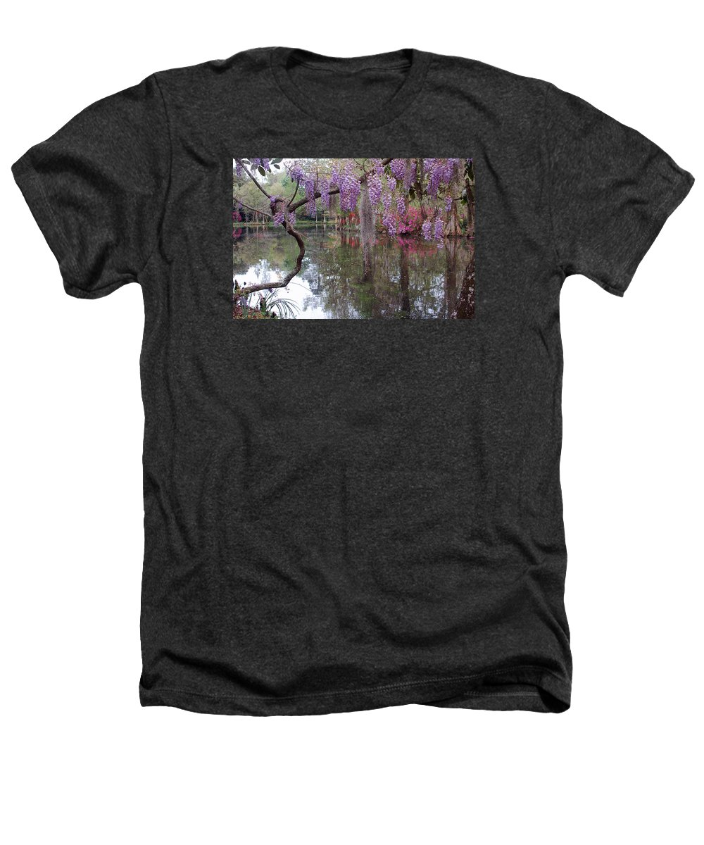 Wisteria Heathers T-Shirt featuring the photograph Magnolia Plantation Gardens Series II by Suzanne Gaff