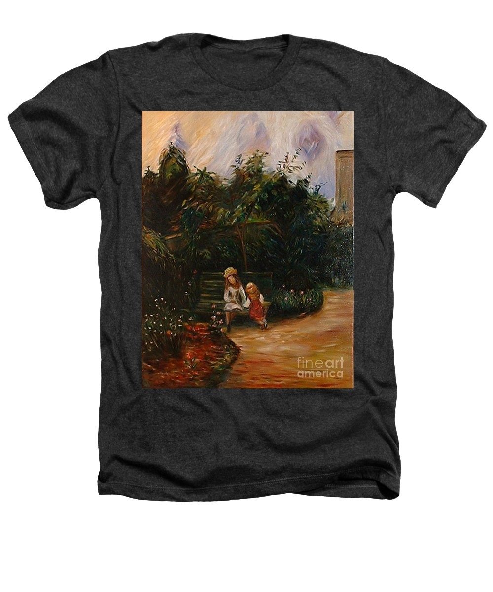 Classic Art Heathers T-Shirt featuring the painting A Corner Of The Garden At The Hermitage by Silvana Abel