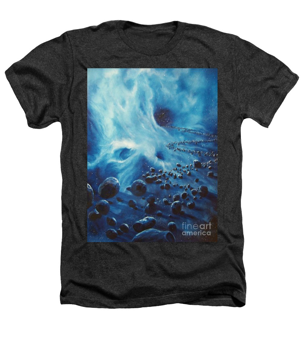 Si-fi Heathers T-Shirt featuring the painting Asteroid River by Murphy Elliott