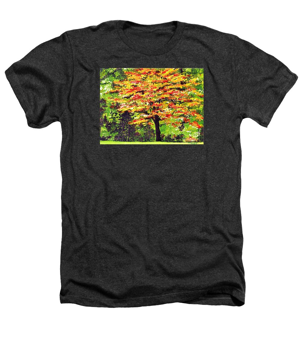 Fine Art Heathers T-Shirt featuring the painting Autumn Splendor by Patricia Griffin Brett