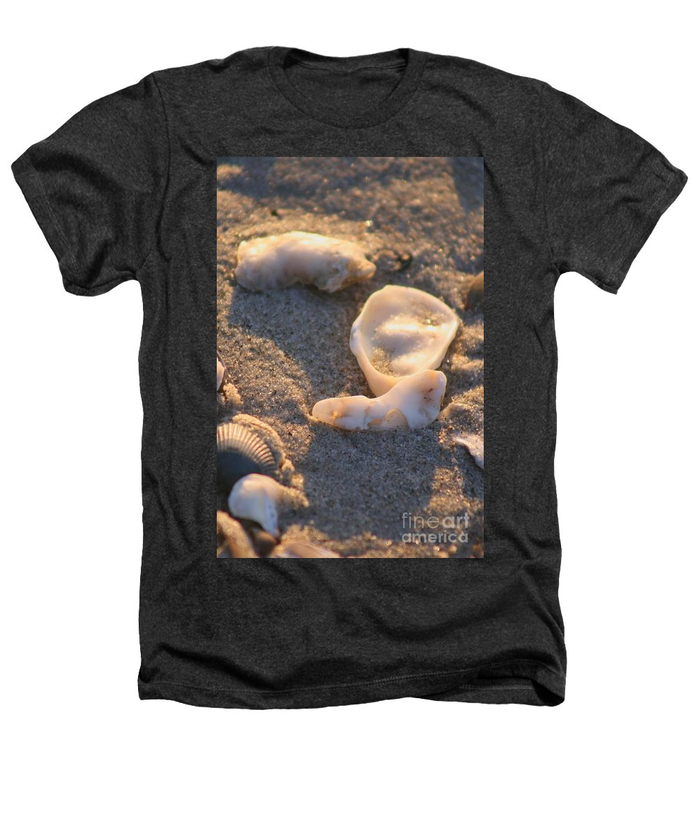 Shells Heathers T-Shirt featuring the photograph Bald Head Island Shells by Nadine Rippelmeyer