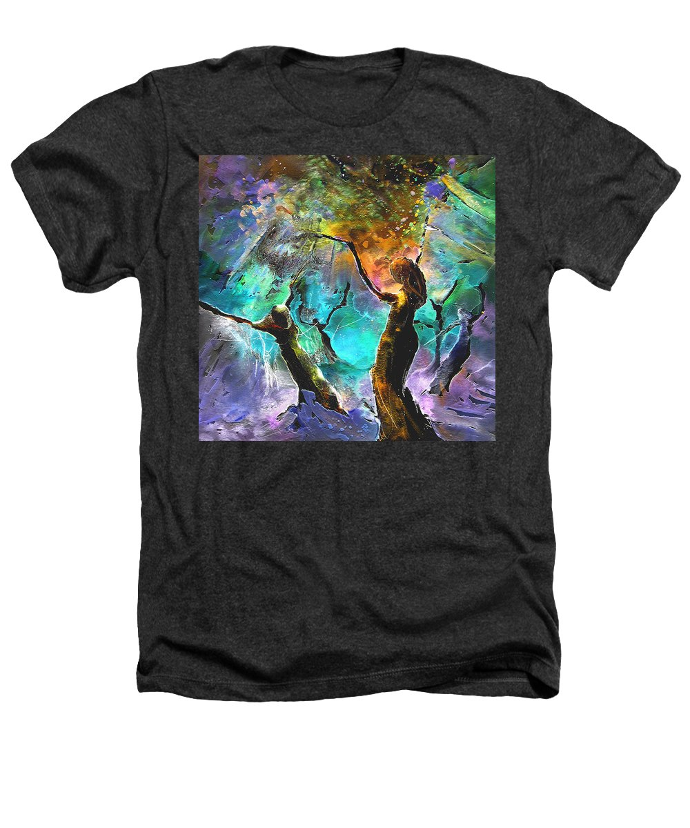 Miki Heathers T-Shirt featuring the painting Celebration Of Life by Miki De Goodaboom