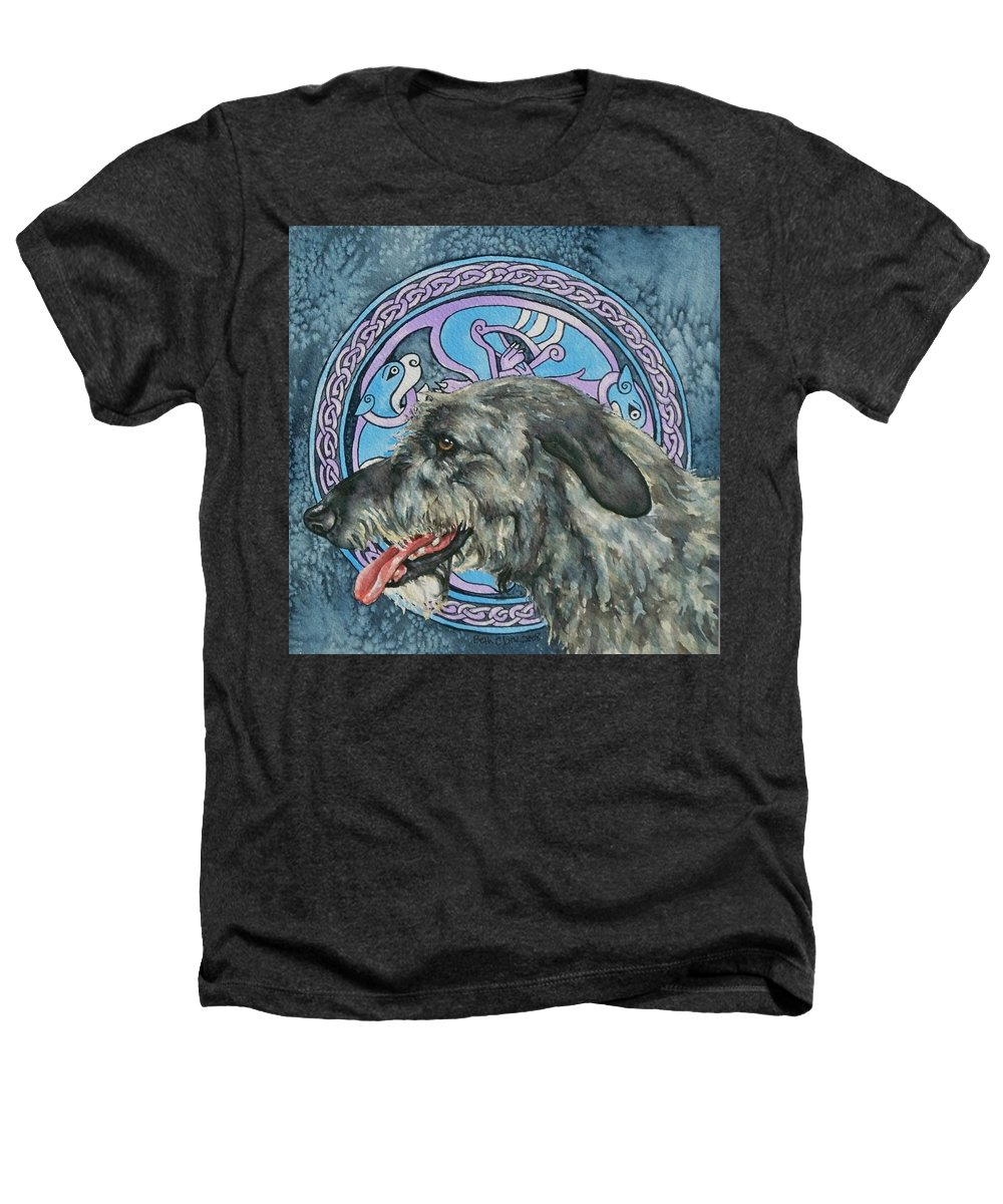 Celtic Heathers T-Shirt featuring the painting Celtic Hound by Beth Clark-McDonal