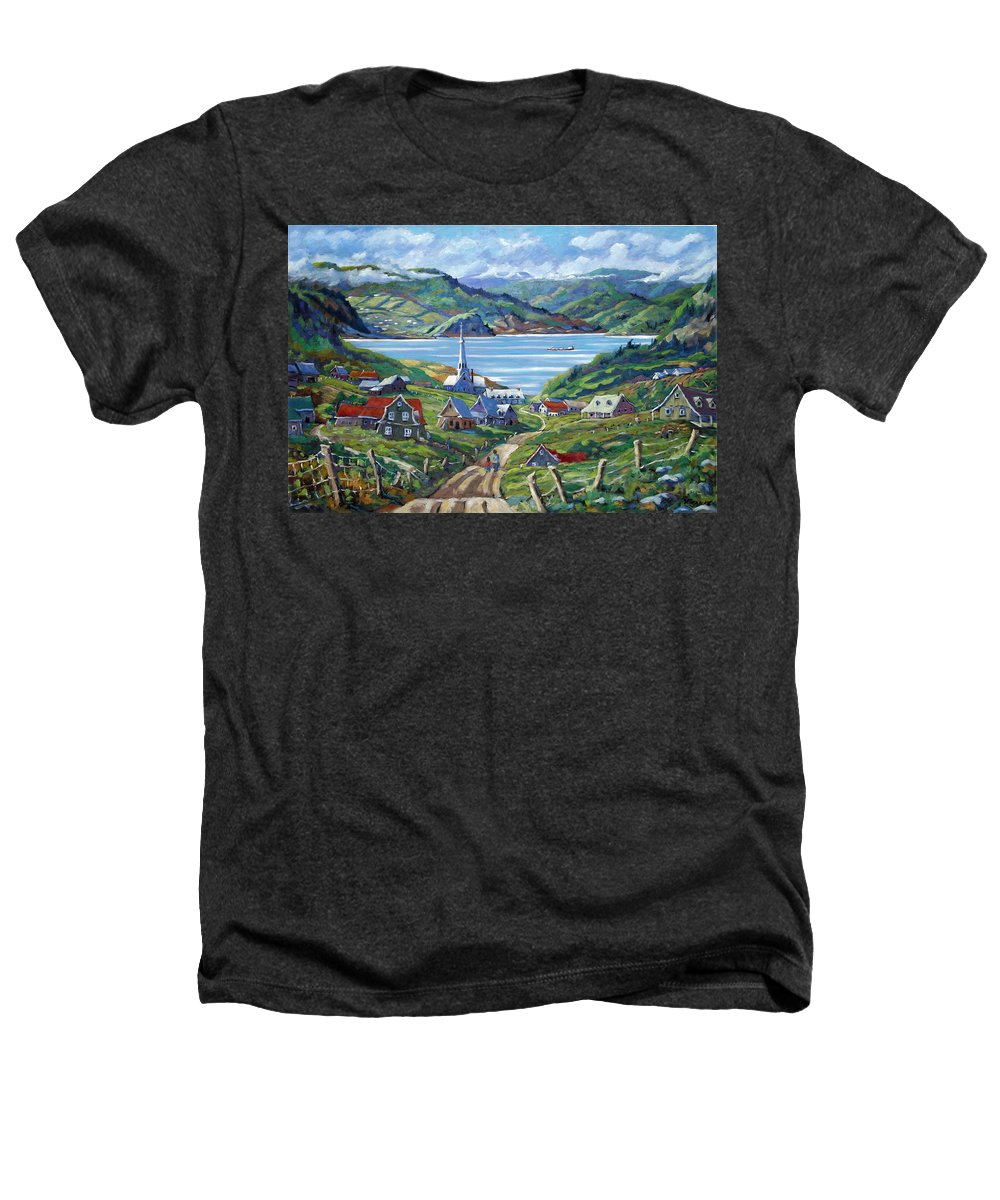 Heathers T-Shirt featuring the painting Charlevoix Scene by Richard T Pranke