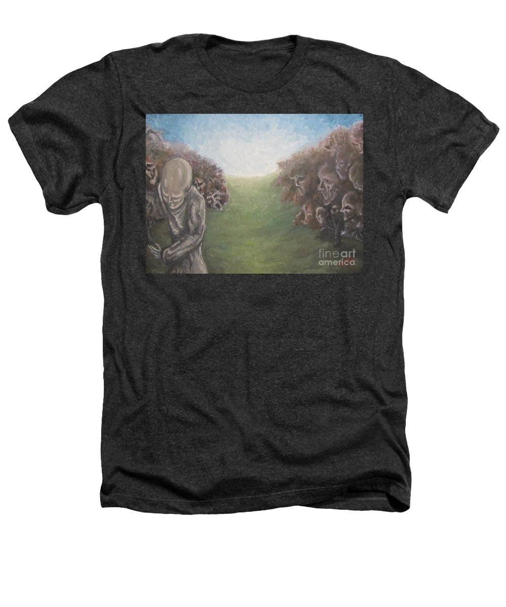 Tmad Heathers T-Shirt featuring the painting Closure by Michael TMAD Finney