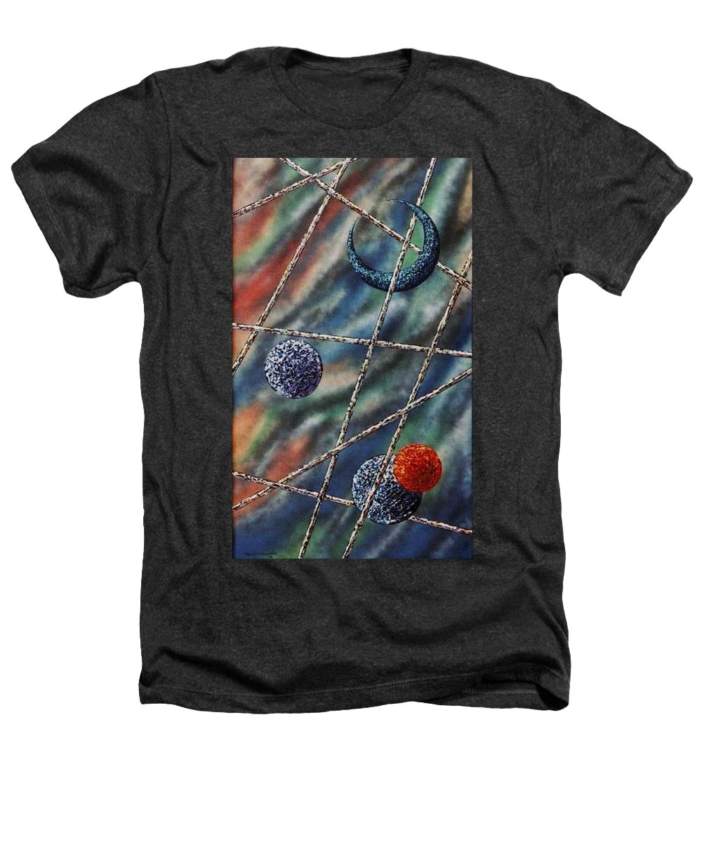 Abstract Heathers T-Shirt featuring the painting Crescent by Micah Guenther