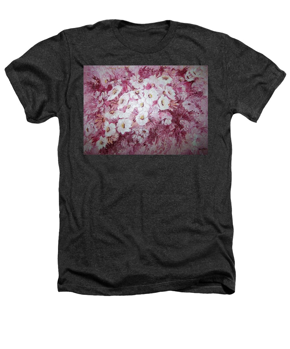 Heathers T-Shirt featuring the painting Daisy Blush by Karin Dawn Kelshall- Best
