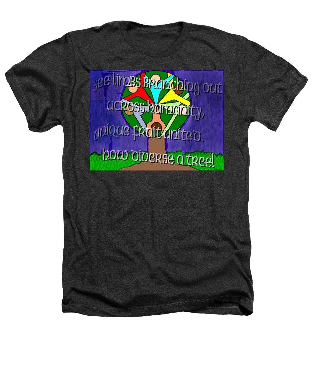 Diversity Heathers T-Shirt featuring the painting Diversity Tree by Pharris Art