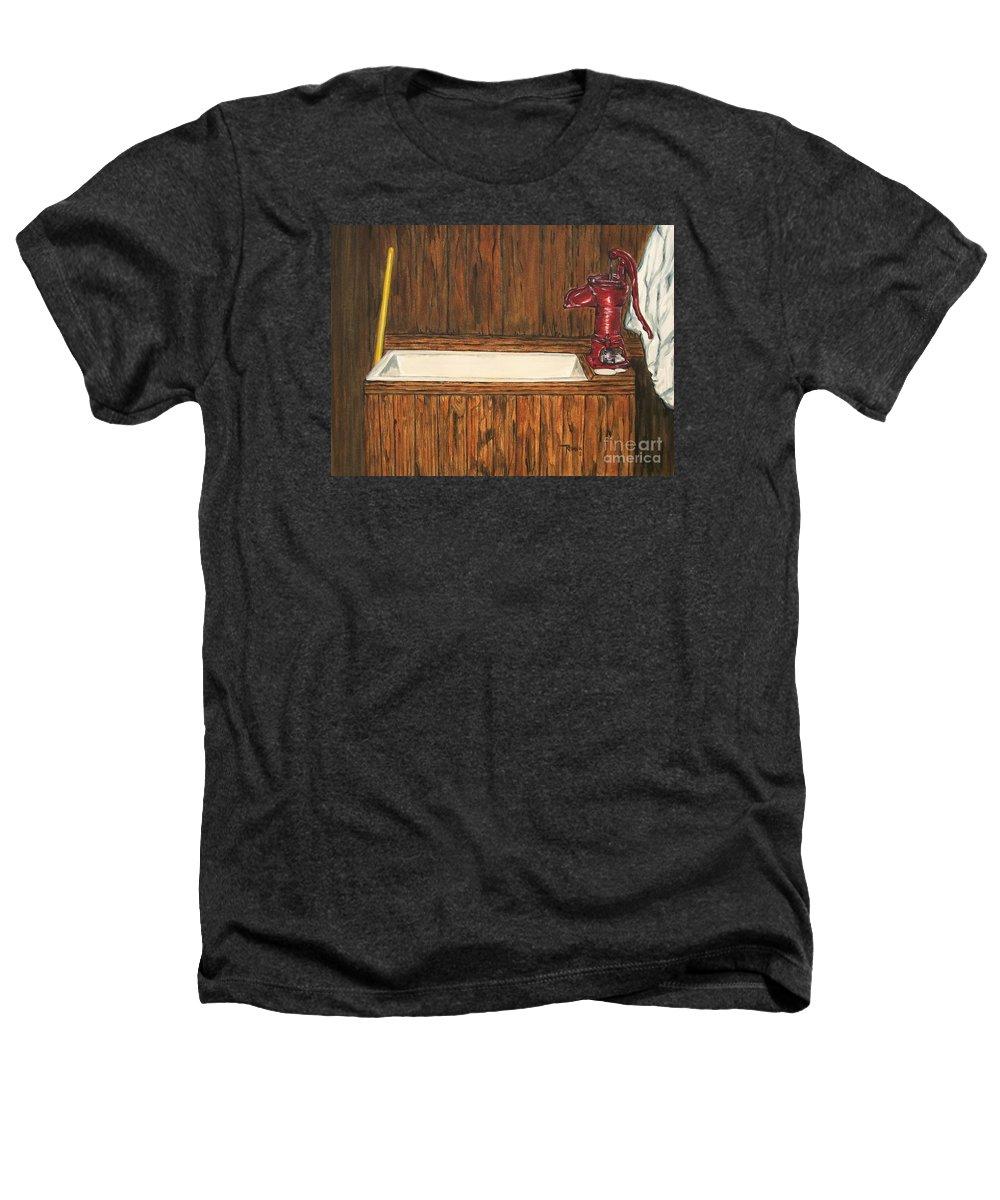 Farm Sink Heathers T-Shirt featuring the painting Farm Sink by Regan J Smith