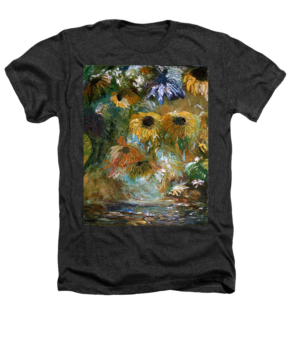Flowers Heathers T-Shirt featuring the painting Flower Rain by Jack Diamond