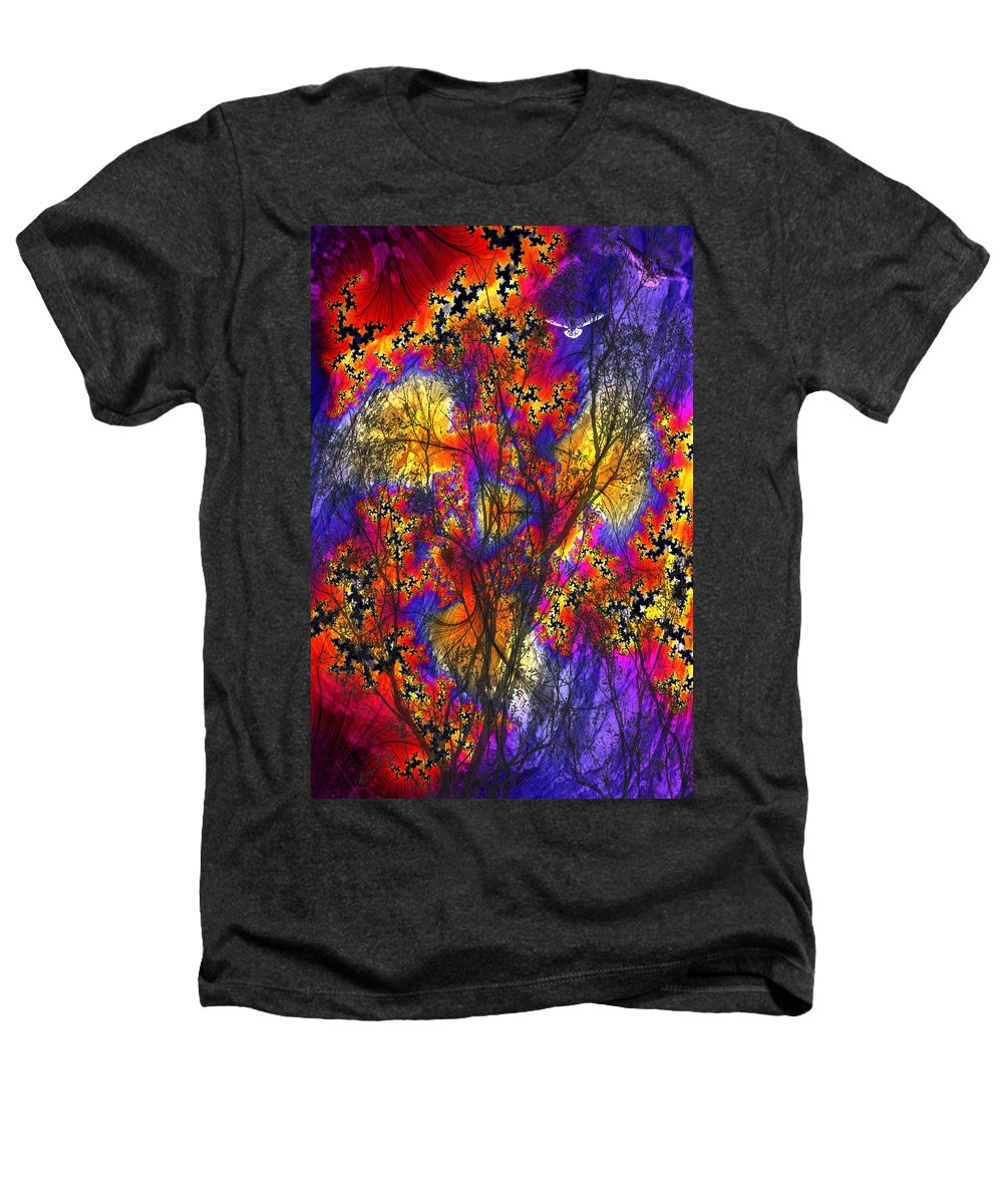 Forest Fire Heathers T-Shirt featuring the digital art Forest Fire by Lisa Yount