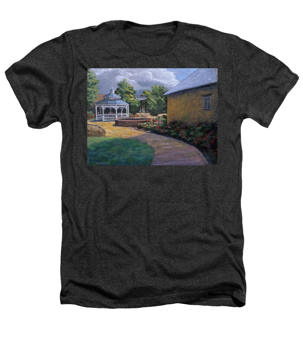 Potter Heathers T-Shirt featuring the painting Gazebo In Potter Nebraska by Jerry McElroy