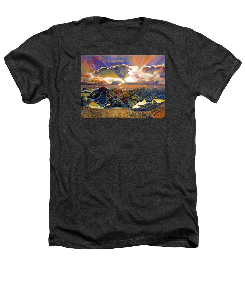 Seascape Heathers T-Shirt featuring the painting God Speaking by Michael Durst