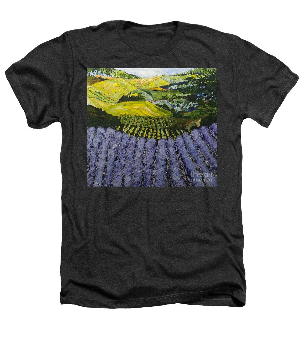 Landscape Heathers T-Shirt featuring the painting Heavenly Valley by Allan P Friedlander