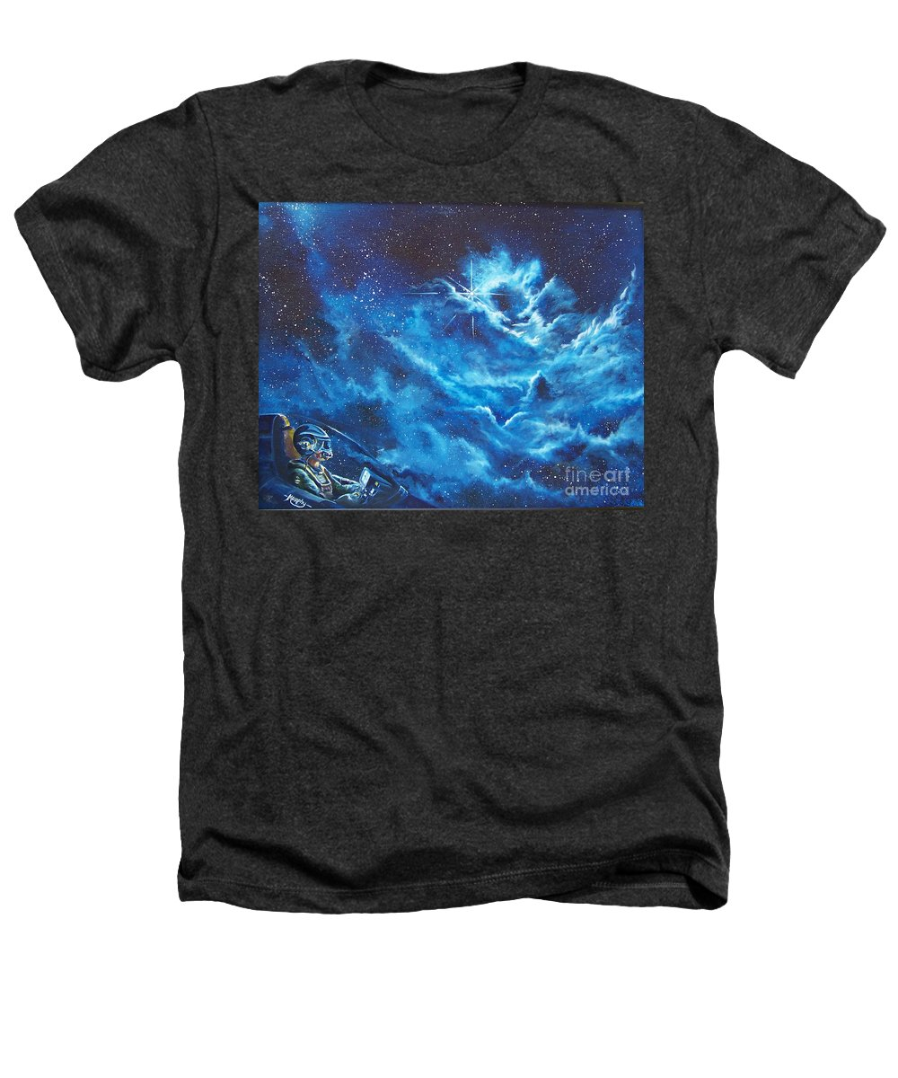 Astro Heathers T-Shirt featuring the painting Heavens Gate by Murphy Elliott