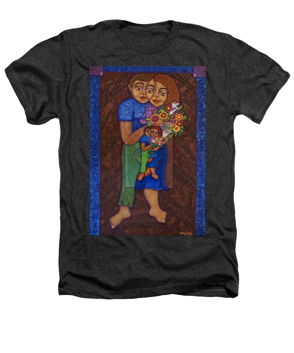 Invention Of Love Heathers T-Shirt featuring the painting Invention Of Love by Madalena Lobao-Tello