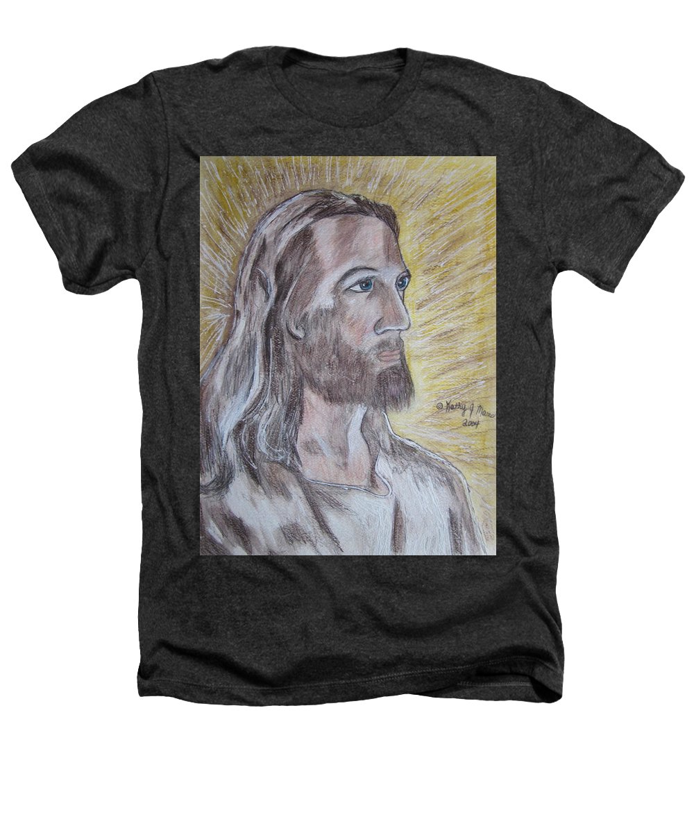 Jesus Heathers T-Shirt featuring the painting Jesus by Kathy Marrs Chandler