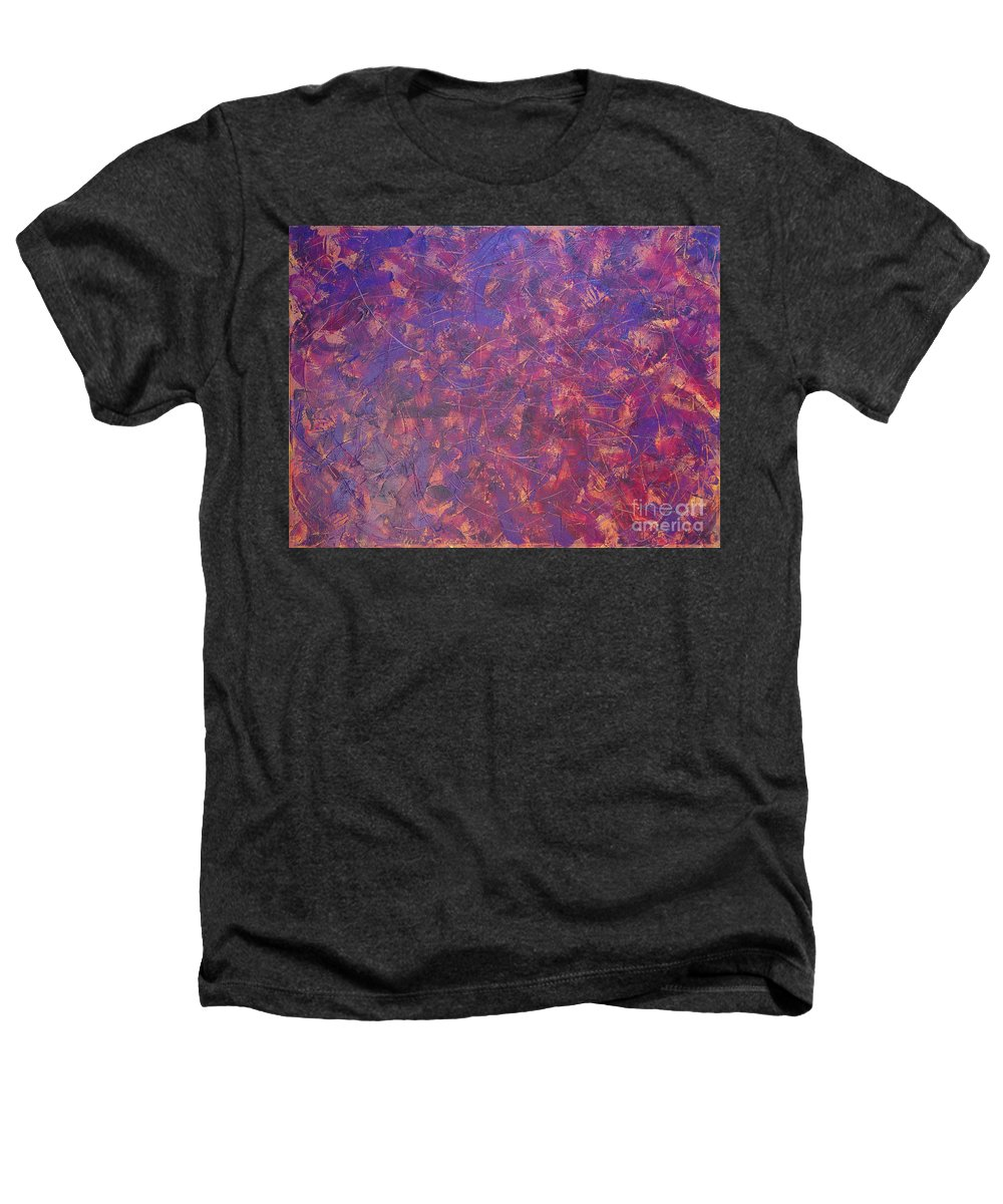 Abstract Heathers T-Shirt featuring the painting Long Beach 5am by Dean Triolo