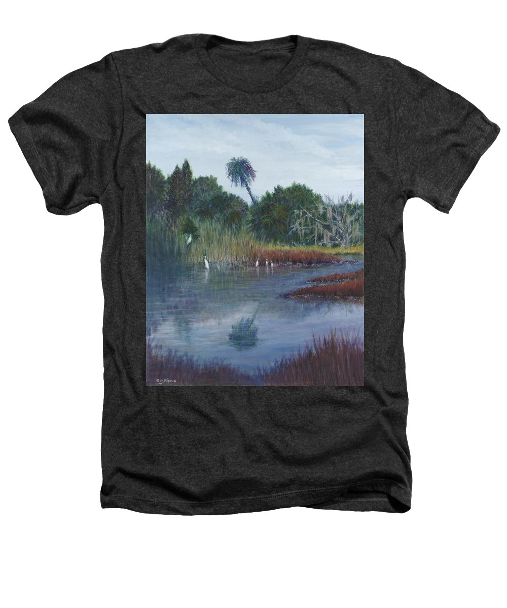 Landscape Heathers T-Shirt featuring the painting Low Country Social by Ben Kiger
