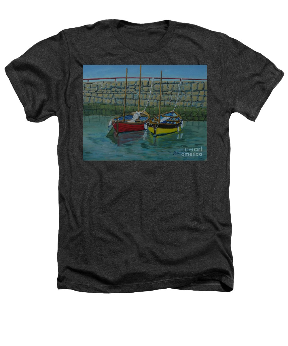 Rock Heathers T-Shirt featuring the painting Low Tide by Anthony Dunphy