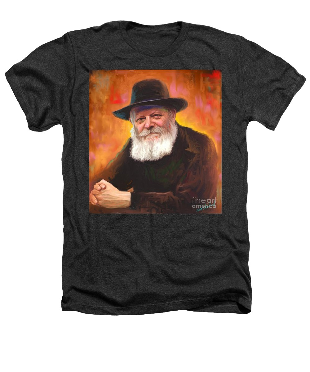 Lubavitcher Rebbe Heathers T-Shirt featuring the painting Lubavitcher Rebbe by Sam Shacked