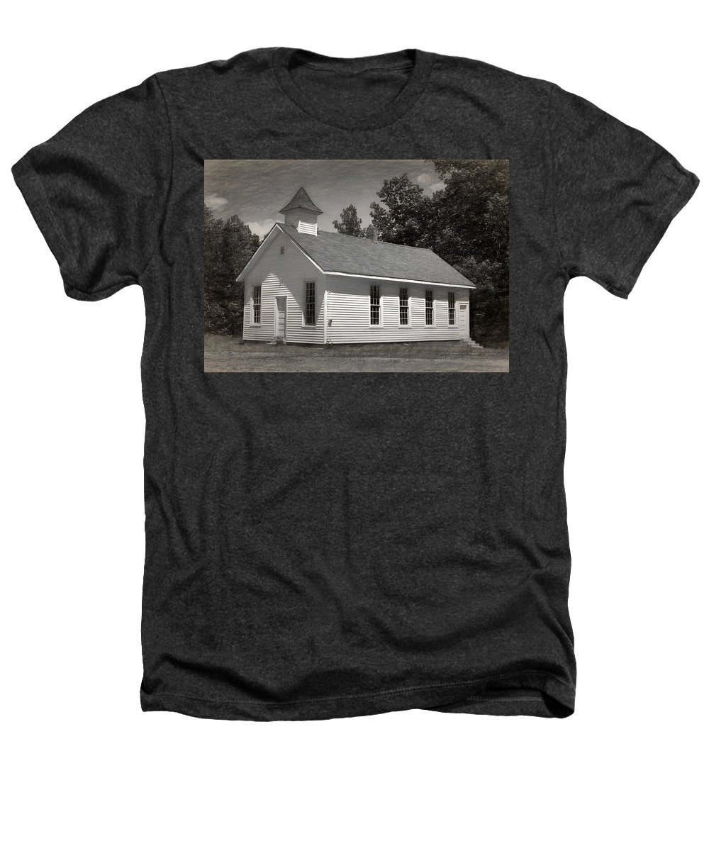 Abandoned Heathers T-Shirt featuring the photograph Meeting House by Richard Rizzo