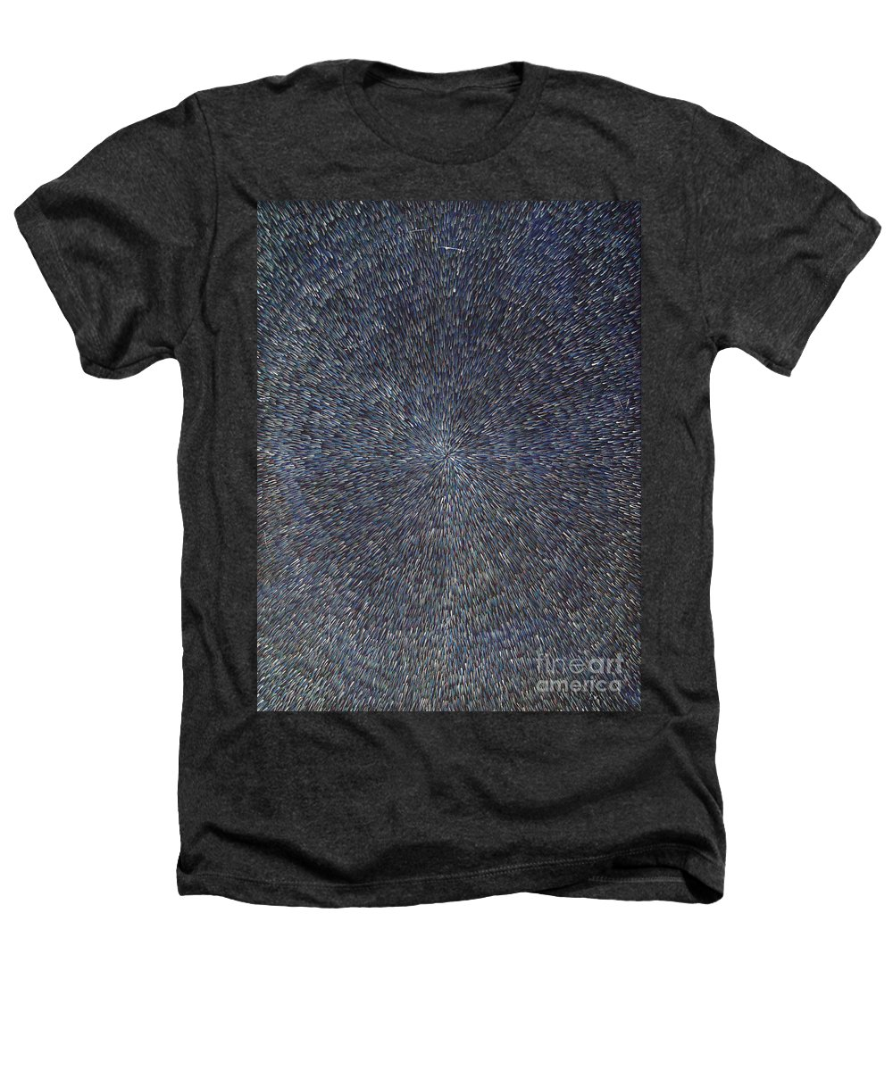 Abstract Heathers T-Shirt featuring the painting Night Radiation by Dean Triolo