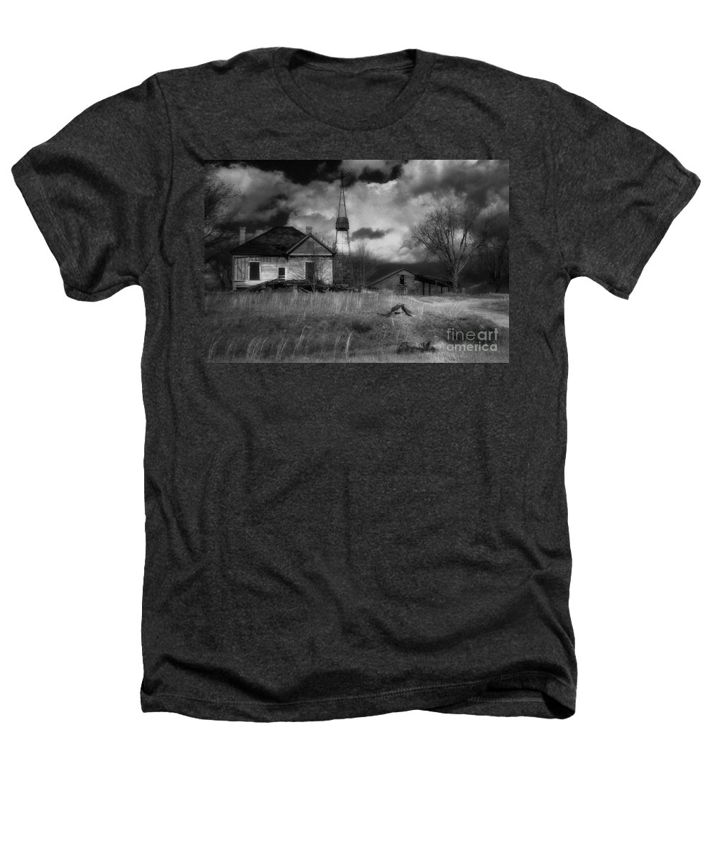 Farms Heathers T-Shirt featuring the photograph Old Georgia Farm by Richard Rizzo