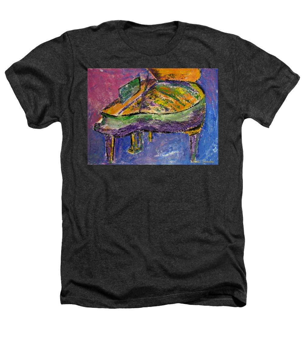 Impressionist Heathers T-Shirt featuring the painting Piano Purple by Anita Burgermeister