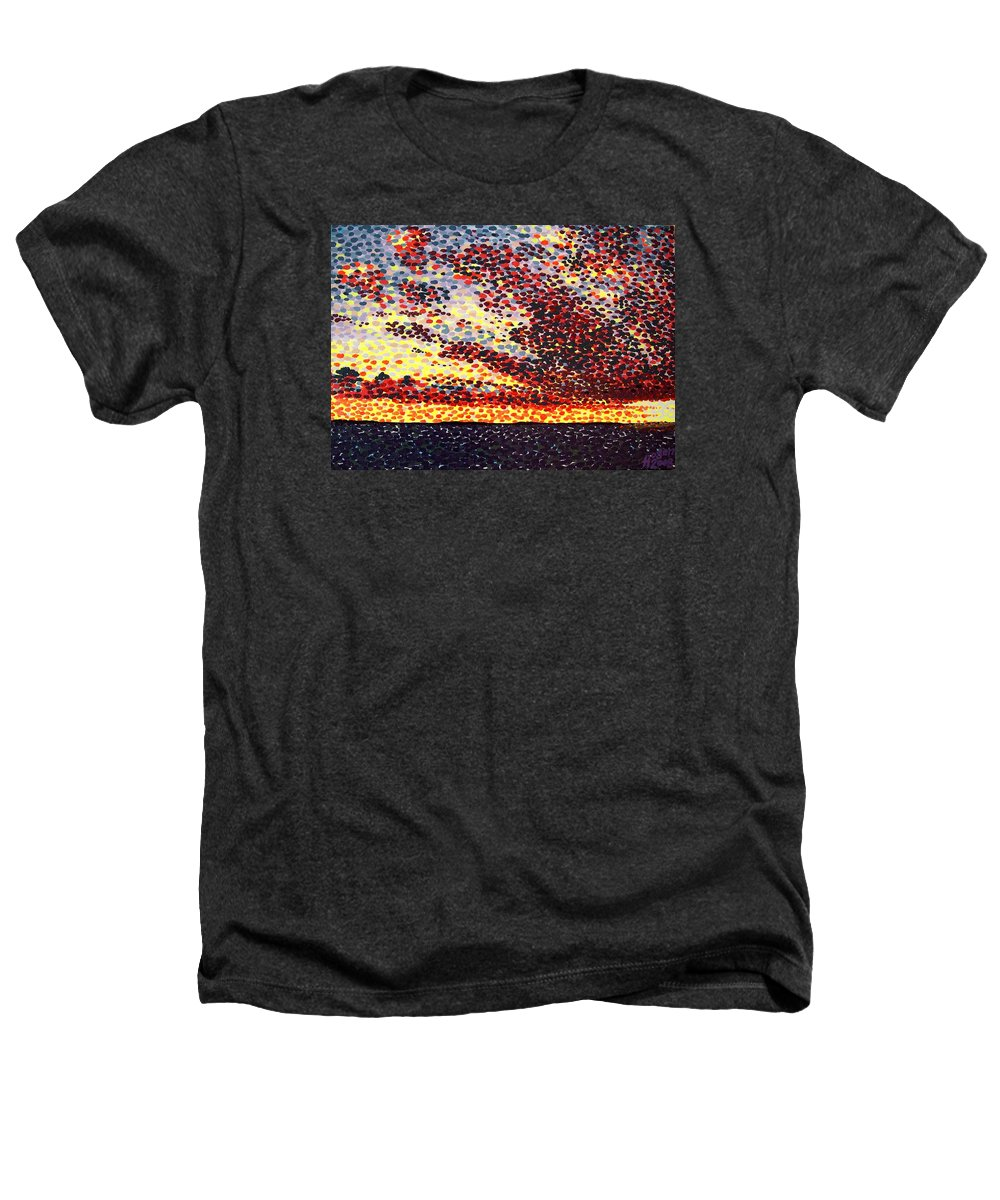 Plum Clouds Heathers T-Shirt featuring the painting Plum Clouds by Alan Hogan