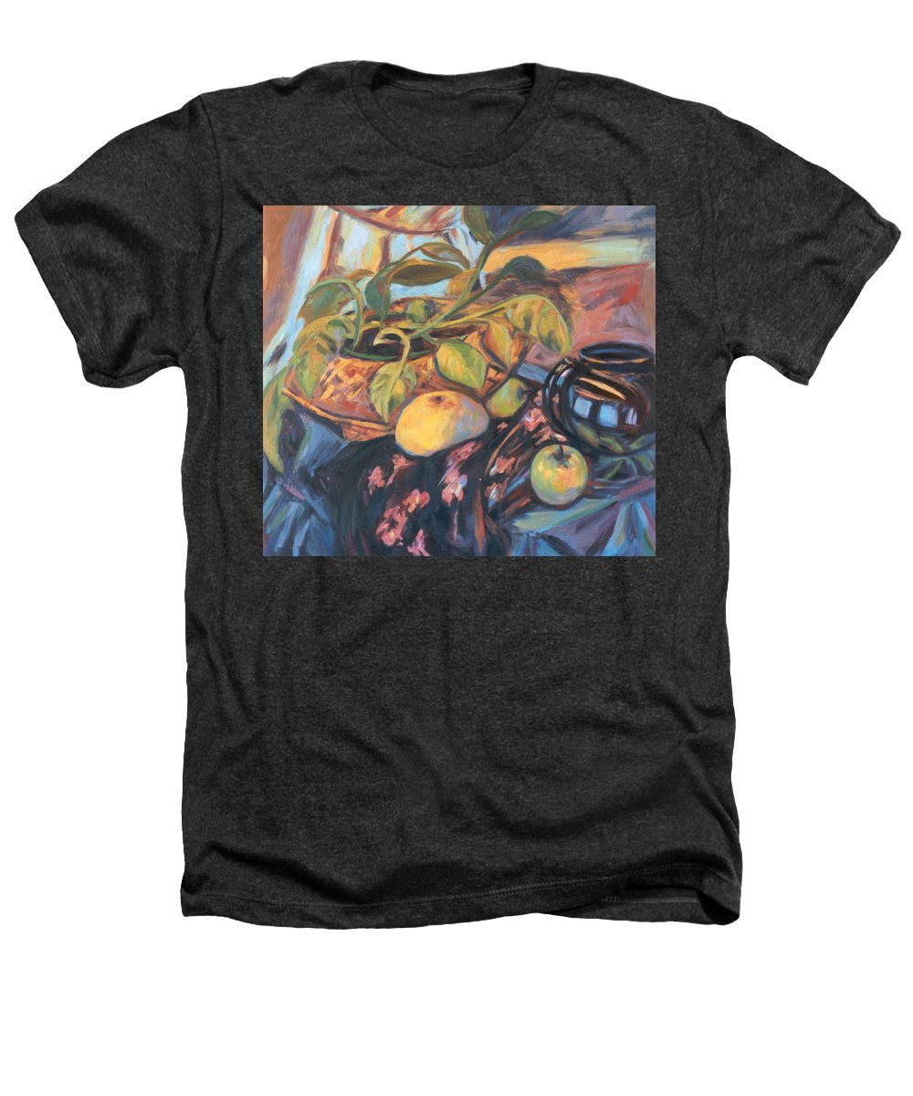 Still Life Heathers T-Shirt featuring the painting Pollys Plant by Kendall Kessler