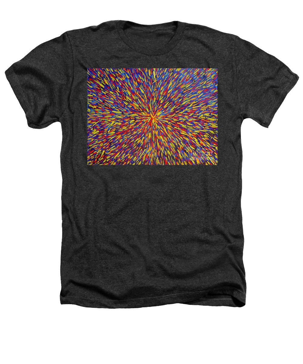 Abstract Heathers T-Shirt featuring the painting Radiation Blue by Dean Triolo