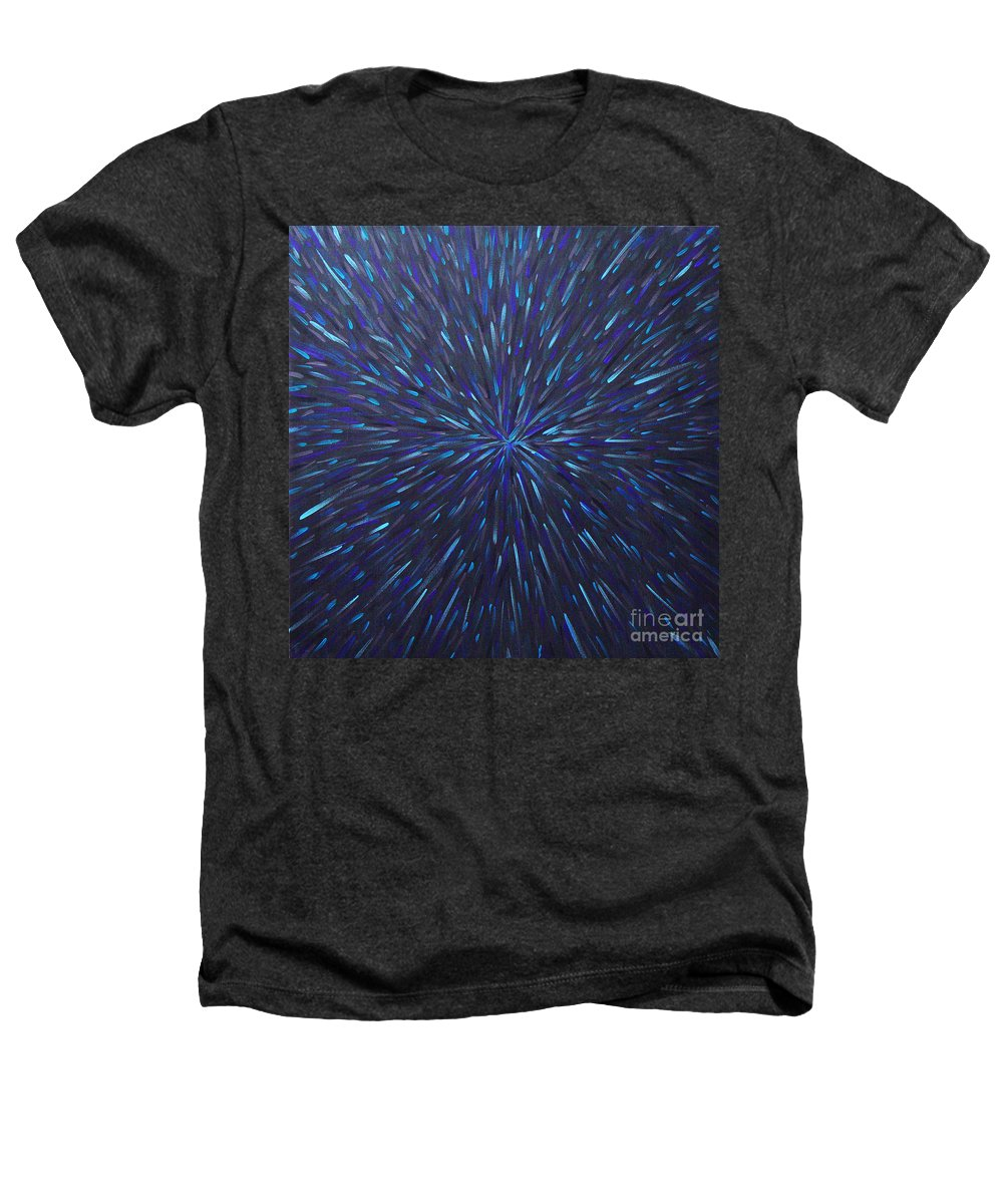 Abstract Heathers T-Shirt featuring the painting Radiation Grey by Dean Triolo