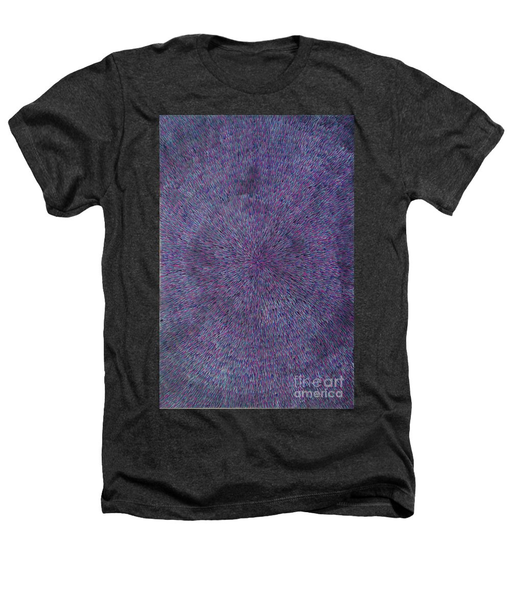 Abstract Heathers T-Shirt featuring the painting Radiation Violet by Dean Triolo
