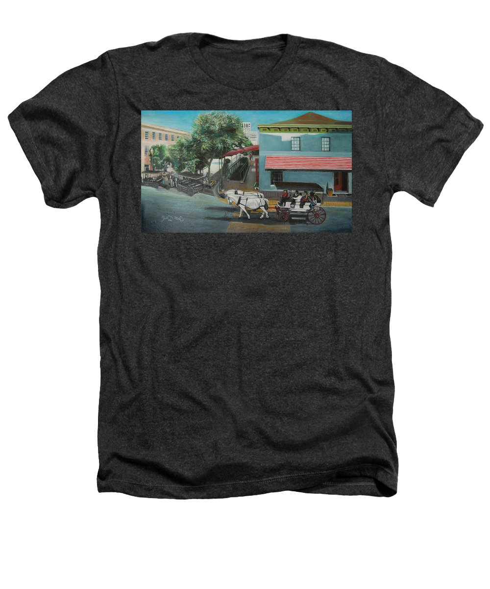 Heathers T-Shirt featuring the painting Savannah City Market by Jude Darrien